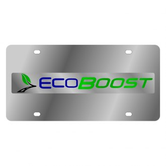 Eurosport Daytona® - Ford Motor Company License Plate with Black Ford Ecoboost Logo