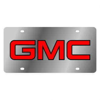 Eurosport Daytona® - GM License Plate with Black GMC Logo