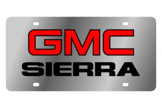 Eurosport Daytona® 1604-1 - GM License Plate with Black GMC Sierra Logo