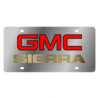 Eurosport Daytona® - GM License Plate with Gold GMC Sierra Logo