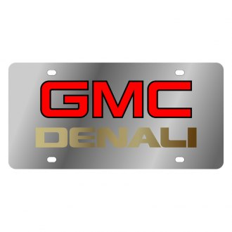 Eurosport Daytona® - GM License Plate with Gold GMC Denali Logo