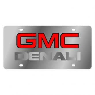 Eurosport Daytona® - GM License Plate with Silver GMC Denali Logo