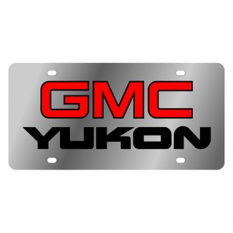 Eurosport Daytona® - GM License Plate with Black GMC Yukon Logo