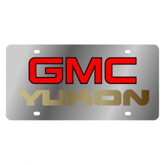 Eurosport Daytona® - GM License Plate with Gold GMC Yukon Logo