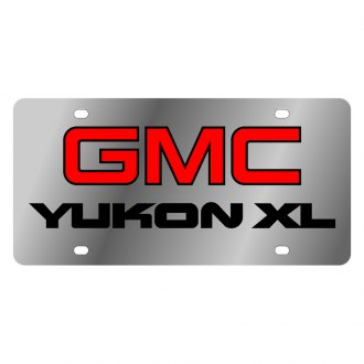 Eurosport Daytona® - GM License Plate with Black GMC Yukon Xl Logo