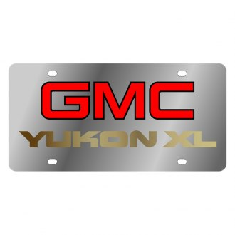 Eurosport Daytona® - GM License Plate with Gold GMC Yukon Xl Logo