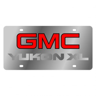 Eurosport Daytona® - GM License Plate with Silver GMC Yukon Xl Logo