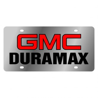 Eurosport Daytona® - GM License Plate with Black GMC Duramax Logo