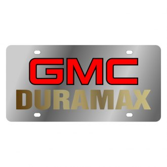 Eurosport Daytona® - GM License Plate with Gold GMC Duramax Logo