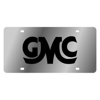 Eurosport Daytona® - GM License Plate with Black GMC Retro Logo