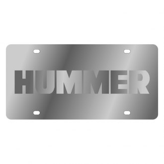 Eurosport Daytona® - GM License Plate with Silver Hummer Logo