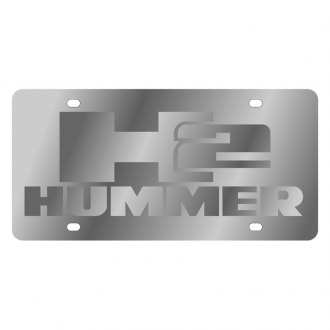 Eurosport Daytona® - GM License Plate with Silver Hummer H2 Logo