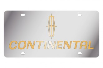 Eurosport Daytona® 1705-2 - Ford Motor Company License Plate with Gold Continental Logo