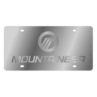 Eurosport Daytona® 1725-3 - Ford Motor Company License Plate with Silver Mountaineer Logo