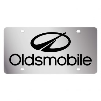 Eurosport Daytona® - GM License Plate with Black Oldsmobile Logo