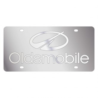 Eurosport Daytona® - GM License Plate with Silver Oldsmobile Logo