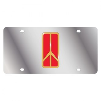 Eurosport Daytona® - GM License Plate with Gold Oldsmobile Rocket Logo Only