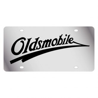 Eurosport Daytona® - GM License Plate with Black Oldsmobile Retro Logo