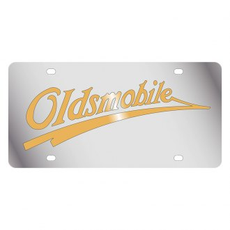 Eurosport Daytona® - GM License Plate with Gold Oldsmobile Retro Logo