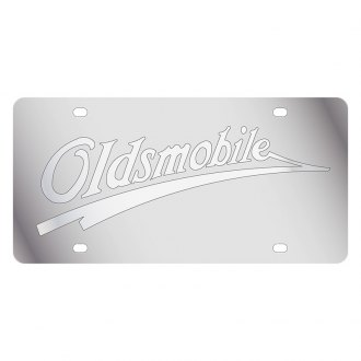 Eurosport Daytona® - GM License Plate with Silver Oldsmobile Retro Logo