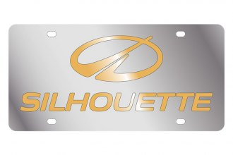 Eurosport Daytona® 1807-2 - GM License Plate with Gold Oldsmobile Silhouette Logo & Word