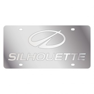 Eurosport Daytona® - GM License Plate with Silver Oldsmobile Silhouette Logo & Word