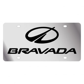 Eurosport Daytona® - GM License Plate with Black Oldsmobile Bravada Logo & Word
