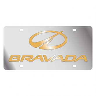 Eurosport Daytona® - GM License Plate with Gold Oldsmobile Bravada Logo & Word