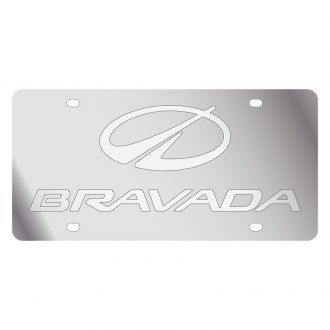 Eurosport Daytona® - GM License Plate with Silver Oldsmobile Bravada Logo & Word