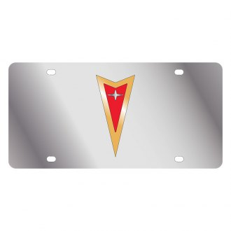 Eurosport Daytona® - GM License Plate with Gold Pontiac Logo