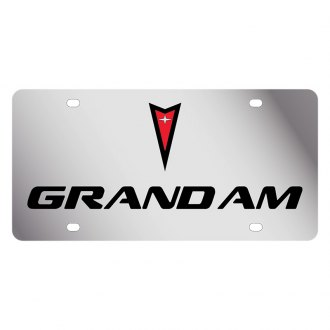Eurosport Daytona® - GM License Plate with Black Grand Am Logo & Word