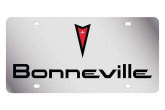 Eurosport Daytona® - GM License Plate with Black Bonneville Logo & Word