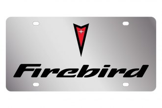 Eurosport Daytona® - GM License Plate with Black Firebird Logo & Word