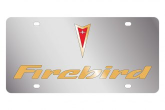 Eurosport Daytona® - GM License Plate with Gold Firebird Logo & Word