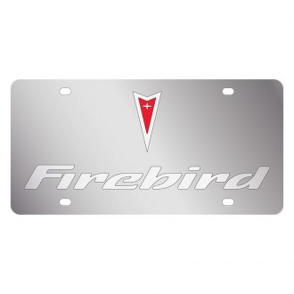 Eurosport Daytona® - GM License Plate with Silver Firebird Logo & Word