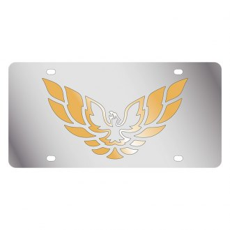 Eurosport Daytona® - GM License Plate with Gold Firebird Logo