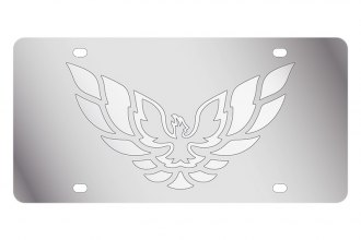 Eurosport Daytona® - GM License Plate with Silver Firebird Logo