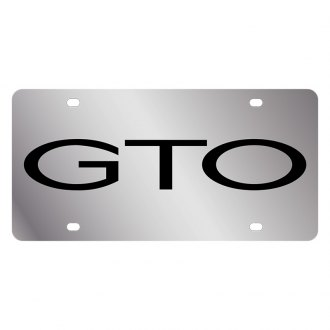 Eurosport Daytona® - GM License Plate with Black GTO Word