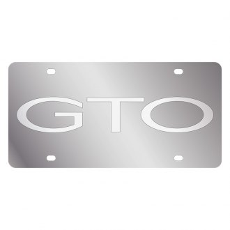 Eurosport Daytona® - GM License Plate with Silver GTO Word