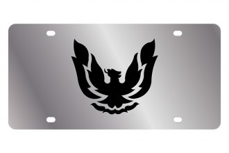 Eurosport Daytona® - GM License Plate with Black Firebird Retro Logo