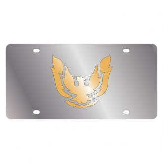 Eurosport Daytona® - GM License Plate with Gold Firebird Retro Logo