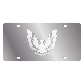 Eurosport Daytona® - GM License Plate with Silver Firebird Retro Logo