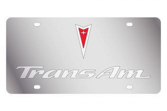 Eurosport Daytona® - GM License Plate with Silver Trans Am Logo & Word