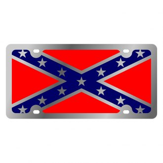 Eurosport Daytona® - LSN License Plate with Rebel Flag Logo