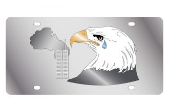 Eurosport Daytona® - LSN License Plate with American Eagle and Twin Towers Logo