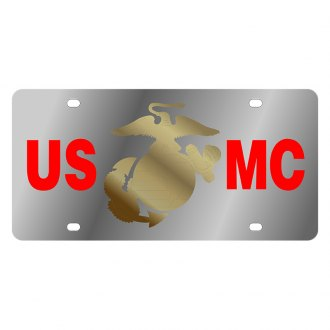 Eurosport Daytona® - LSN License Plate with U.S. Marine Corp Logo