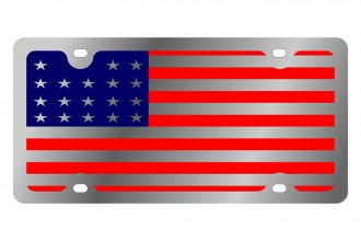 Eurosport Daytona® 1925-1 - LSN License Plate with USA Full Flag Logo