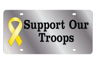 Eurosport Daytona® - LSN License Plate with Support Our Troops Logo