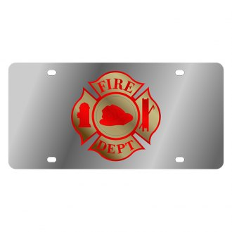 Eurosport Daytona® - LSN License Plate with Fire Department Cross Logo