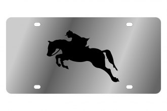 Eurosport Daytona® 1987-1 - LSN License Plate with Horse 2 Logo